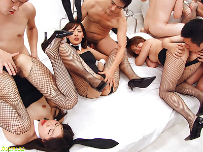 Group sex up japanese bunny..