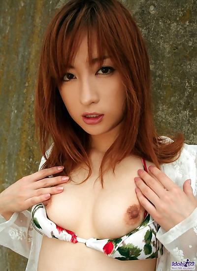 Japanese girl with roseate..