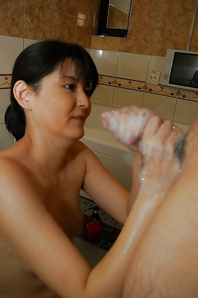 Sassy asian MILF gives a..