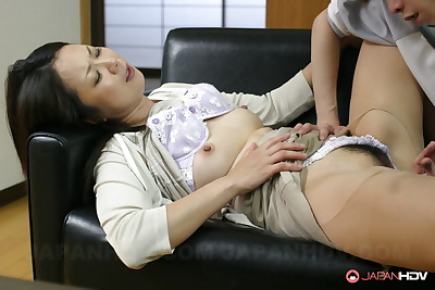 Japanese female receives..