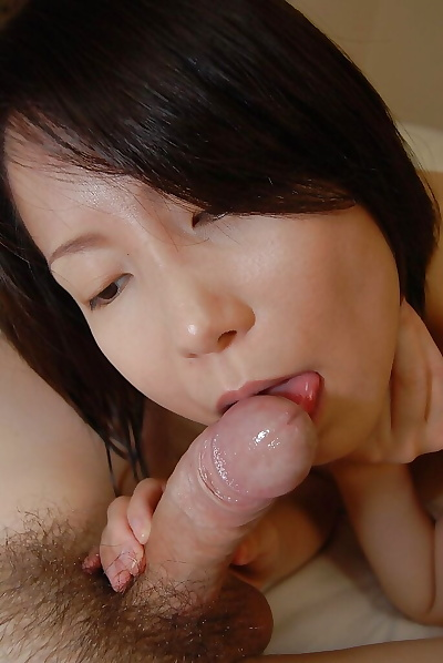 Perky asian MILF gives head..