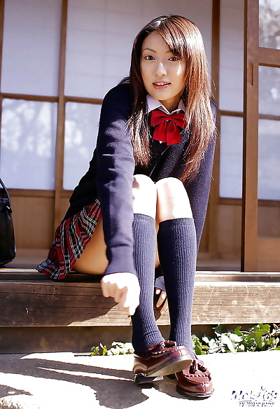 Asian schoolgirl Misa..